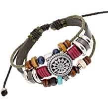 Usstore Women Lady Bohemia Wind Beaded Multilayer Hand Woven Bracelet Jewelry