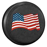 AmFor Spare Tire Cover, Universal Fit for Jeep, Trailer, RV, SUV, Truck and Many Vehicle, Wheel Diameter 30'' - 31'', Weatherproof Tire Protectors (National Flag)