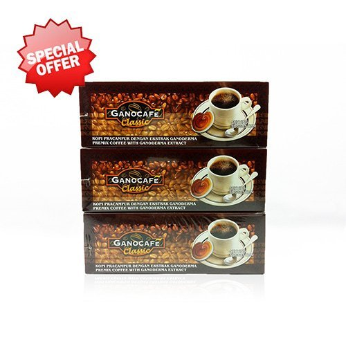 3 Boxes Gano Excel Ganocafe Classic Ganoderma Healthy Coffee 90 Sachets Free Shipping by Gano Excel