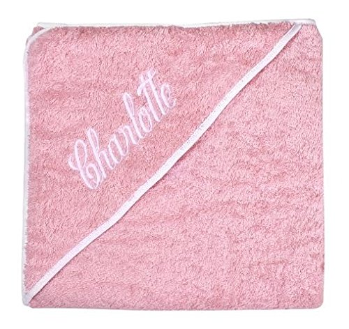 Personalized Baby Gifts Baby Bath Towels Pink Hooded Towels with Your Baby Girl Name by Decorative Things