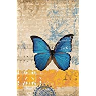 Vintage Butterfly Blank Journal Notebook, Narrow Ruled: Blank Daily Writing Notebook Diary with Lines