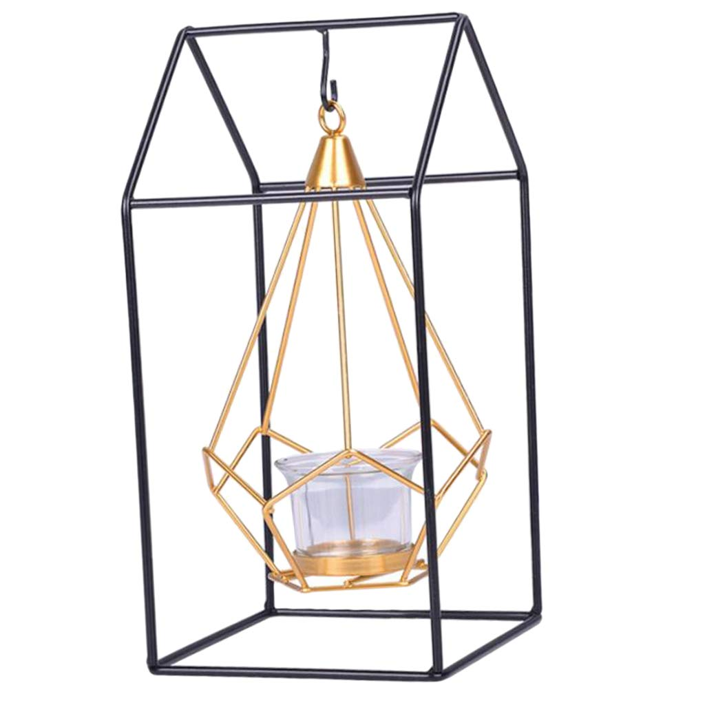 1 B Blesiya Nordic Style Geometric Candlestick Ornaments Small Tealight Candle Holders Home Decoration