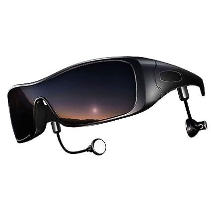DCCN Bluetooth Gafas de sol polarizadas UV400 Gafas motocicleta bicicleta gafas con estéreo Bluetooth Auriculares para