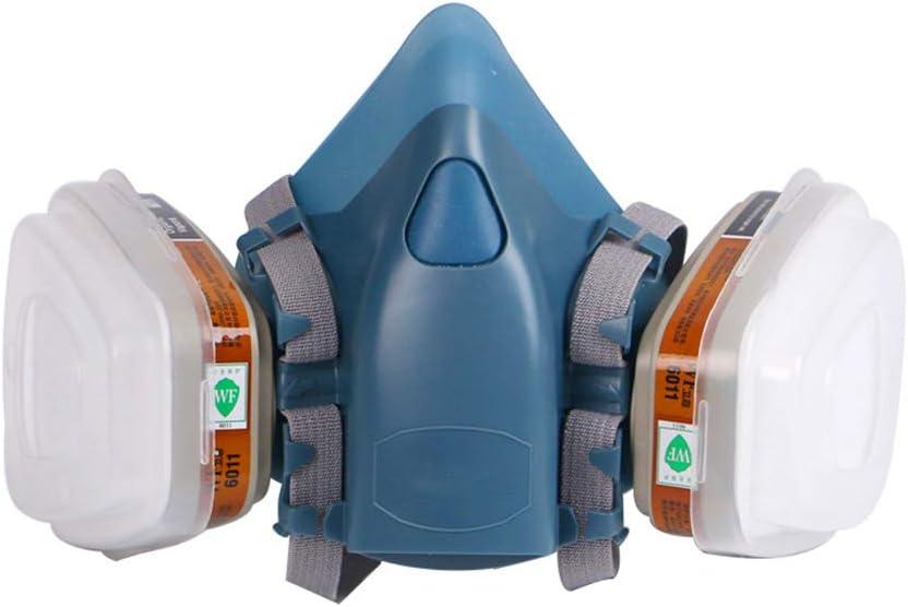 1 juego de mascarilla de gas antipolvo con respirador de cara completa para limpieza industrial de minas en aerosol químico y protección contra incendios