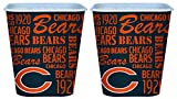 Set of 2 Chicago Bears 3 Liter Reusable Plastic Snack Buckets!