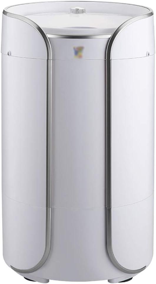YXWxyj Lavadoras Mini Lavadora doméstica pequeña portátil Lavadora semiautomática Lavadora deshidratación, Lavado Capacidad 3,8 kg (Color : Silver)
