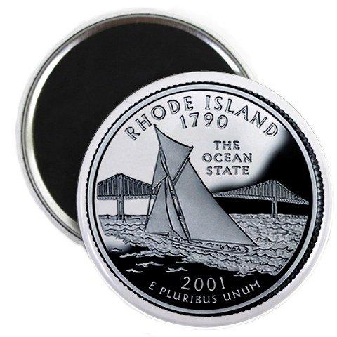 Rhode Island State Quarter Mint Image 2.25 inch Fridge Magnet