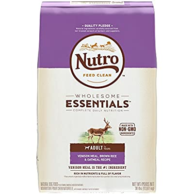 Nutro Wholesome Essentials Natural Adult Dry Dog Food, Venison 30 lb.