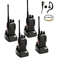 Rechargeable Walkie Talkies Long Range Two Way Radios for Outdoor Travel (Pack of 4)