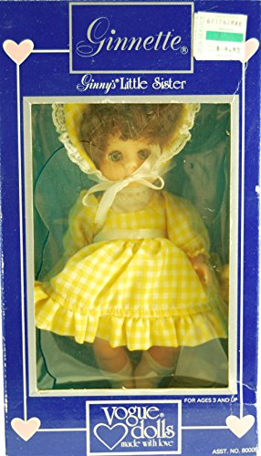 1984 - Meritus Industries Inc / Vogue Dolls - Ginnette : Ginny's Little Sister - 8 Inch Poseable Vinyl Doll - OOP - New - Very Rare - Collectible