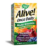 Nature's Way Alive! Once Daily Adult Multivitamin, Ultra Potency, Food-Based Blends (200mg per serving), 60 Tablets