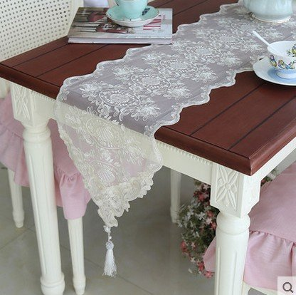 Home-style lace embroidery table cloth coffee table light luxury minimalist piano cover , gold , 30210 Christmas Halloween decorations-YU&XIN ()