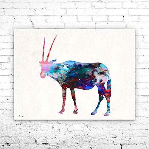Antelope 3 Watercolor Print, Fine Art Print, Children's Wall, Art Home Decor, animal watercolor, watercolor painting, Antelope watercolor