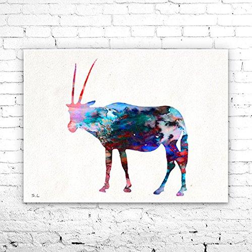 Antelope 3 Watercolor Print, Fine Art Print, Children's Wall, Art Home Decor, animal watercolor, watercolor painting, Antelope watercolor