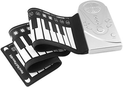 TRF Teclado de Piano electrónico para Kid, Plegable 49 Llaves ...