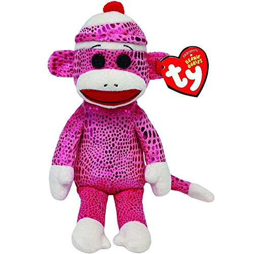 Ty Beanie Babies - Ty Beanie Babies 6 Quot 15cm Sock Monkey Pink Sparkle Plush Regular Soft Stuffed Animal Collection - Yorkie Bulk Hamster Valentino Collectors Mcdonalds Jelly Duckling Superher