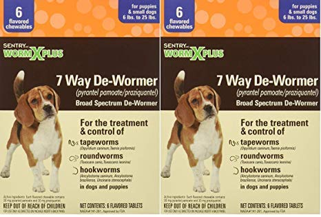 Sentry Worm X Plus 7 Way DeWormer Small Dogs (2 Pack(6 Count))