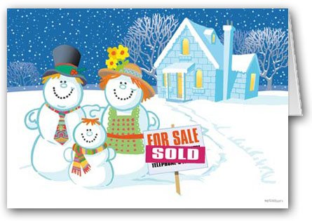 Amazon sweet deal real estate holiday card funny realty snowman family real estate holiday card 18 cards envelopes reheart Image collections