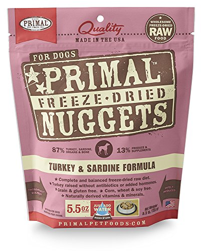 Primal Pet Foods Freeze-Dried Canine Turkey Formula 5.5 oz (Raw Pet Foods)