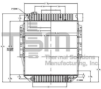 tsmusa all metal radiator for ford b600 (1980-1989), ford b700 (