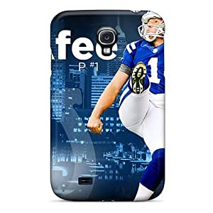 CADike Scratch-free Phone Case For Galaxy S4- Retail Packaging - Indianapolis Colts