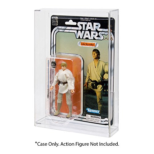 (Star Wars Black Series 40th Anniversary Carded Action Figure Acrylic Display Case)