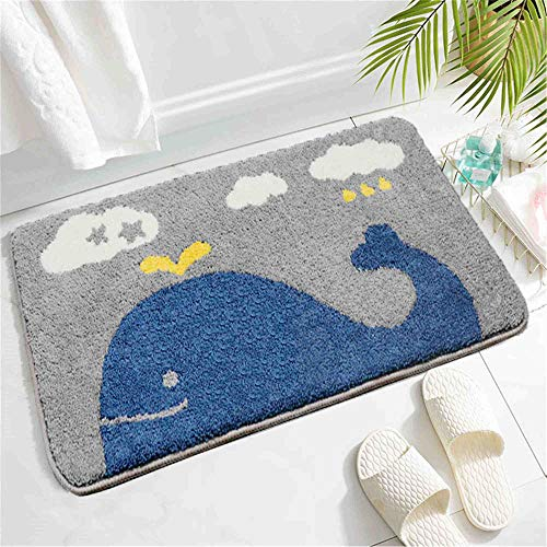 THRILRUG Bathroom Rug mat, Non-Slip Soft Microfiber Washable Water Absorbent Colourful Cute Small Bath mats Rugs Set for…