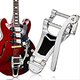 SanHype(TM) Chrome Tremolo Vibrato Bridge Tailpiece Hollowbody Archtop For Les Paul Guitar