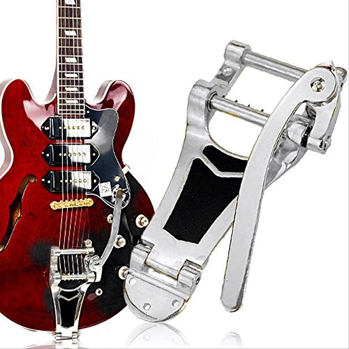 SanHype(TM) Chrome Tremolo Vibrato Bridge Tailpiece Hollowbody Archtop For Les Paul Guitar by SanHype