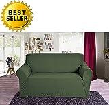 Elegant Comfort Collection Luxury Soft Furniture Jersey STRETCH SLIPCOVER, Loveseat Sage-Green