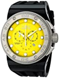 Invicta Men's 12294 Akula Chronograph Yellow Dial Black Silicone Watch