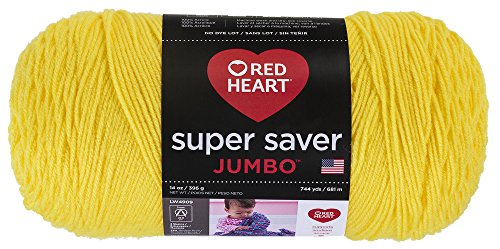 Coats Yarn Super Saver Jumbo Yarn, Bright Yellow from Coats: Yarn