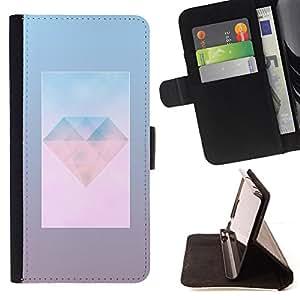 Jordan Colourful Shop - Diamond Jewel Gem Day Polygon Art For Apple Iphone 4 / 4S - Leather Case Absorci???¡¯???€????€????????&