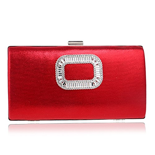 tracolla sposa Borsa Clutch a da Banquet mano Lady Red Evening Dress a bag Borsa qHwpn7Tv