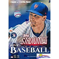 $22 » 2019 Topps Stadium Club Baseball Factory Sealed Retail Box with 8 Packs! Look for Autos of Vladimir Guerrero Jr, Mike Trout, Pete Alonso, Derek Jeter,…