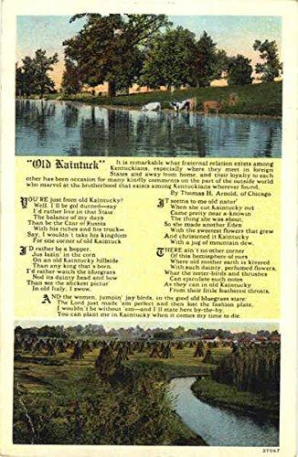 Old Kaintuck Poems & Poets Original Vintage Postcard