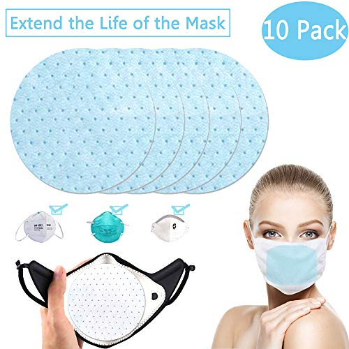 PM2.5 N95 Activated Carbon Filter Face Mask Breathing Insert Protective and Extend the Life of Mask Respirator (Circle)