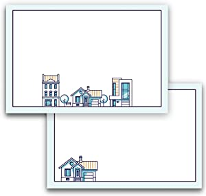 Note Cards for Real Estate and Realtors, A6, 4 x 6 inches, The Gift Collection, Double-Sided, Set of 48