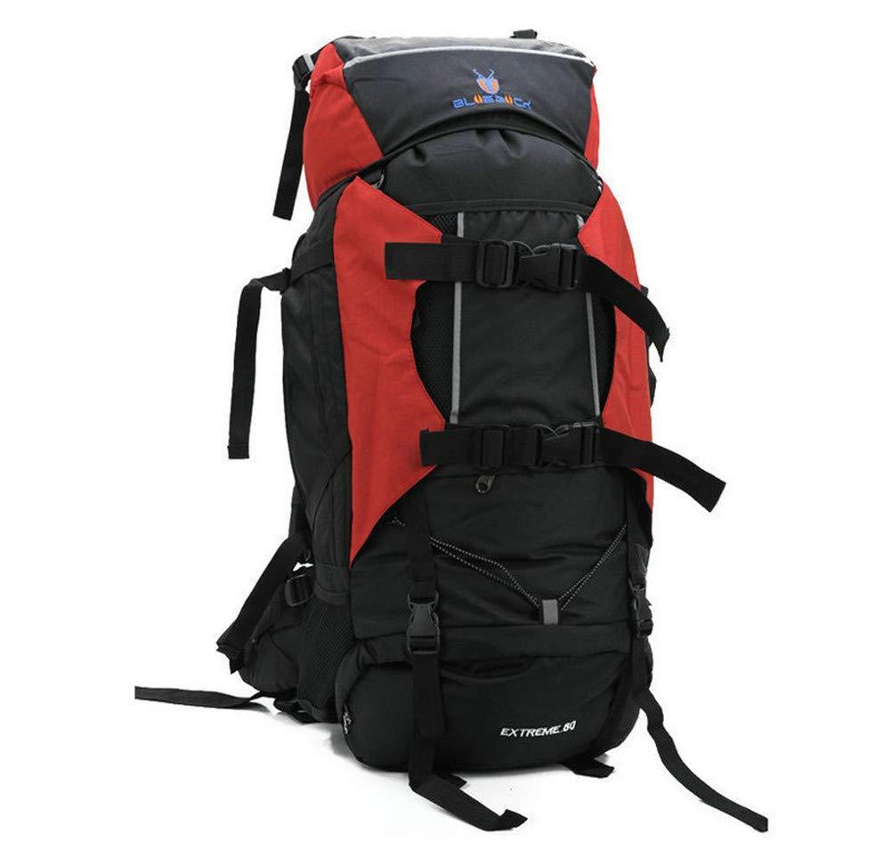 登山バックパック旅行アウトドア大容量観光トレッキングハイキング多機能男性女性 B07P8DGR7G RED