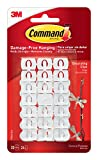 Tools & Hardware : Command Decorating Clips, White, 20-Clips (17026-ES)