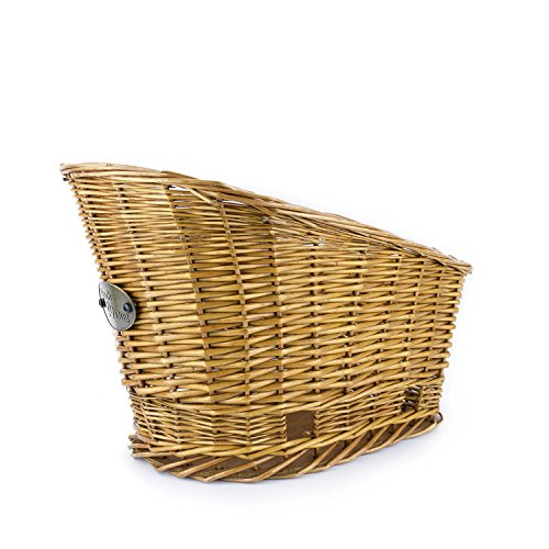 Large Rear Mount Willow Bicycle Basket for Dogs - Hand Crafted By Beach and Dog Co - Leashes Included (Cape May Large) by Beach & Dog Co (Image #2)