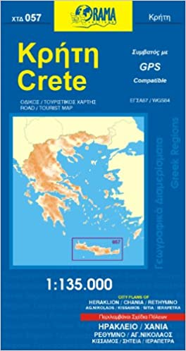 Laminated Map of Crete by Borch English English and German Edition