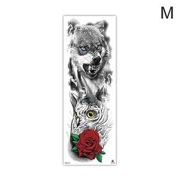 Brazo Cuerpo Dibujo Tigre León Etiqueta engomada del tatuaje a ...