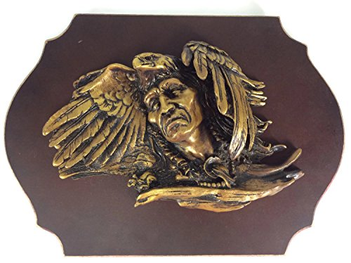 - Wall Decor American Indian Red Indian Eagle Wall Plaque Vintage Produce Crate Label