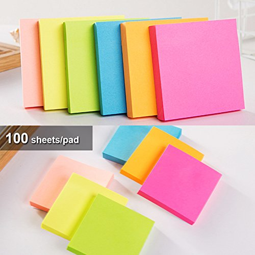 Sticky Notes 3x3 inches,100 Sheets/Pad, 12 Pads Self-Stick Notes with 6 Colours Self-Stick Notes, Easy to Post for Home, Office by BIvil (Image #2)