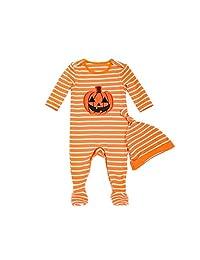 Fairy Baby Toddler Baby Girls Boys Halloween Pumpkin Footies 2 Piece Pajamas Set