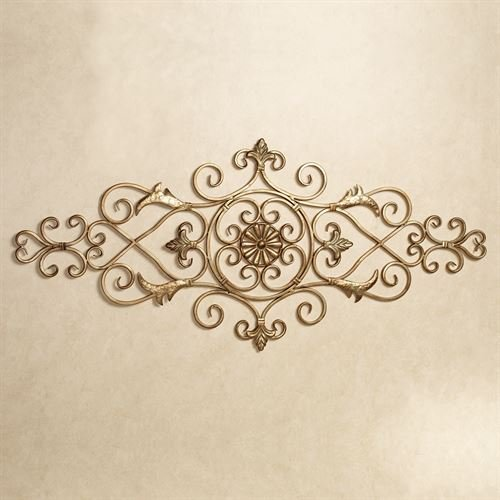 Leaf Design Wall Grille - Touch of Class Merano Scrolling Wall Grille Antique Gold