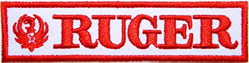 RUGER FIREARMS Gun Shooting Sport Logo Sign Symbol Patch Iron on Applique Embroidey Decal T shirt Jacket Costume Gift BY SURAPAN