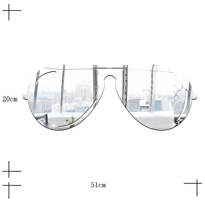 XiaoGao_ lunettes de soleil, autocollants, miroir solide, pâte de acrylique,argenté