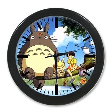 Custom Evergreen Fashion Japanese Anime My Neighbor Totoro Elegant Photo Quartz Wall Clock